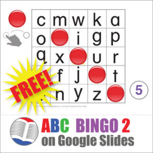 ABC Bingo 2 on Google Slides