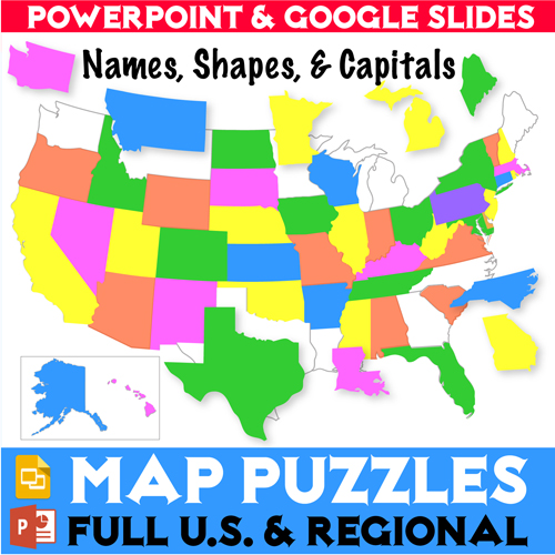 Donald's English Classroom Kinney Brothers Publishing Map Puzzles