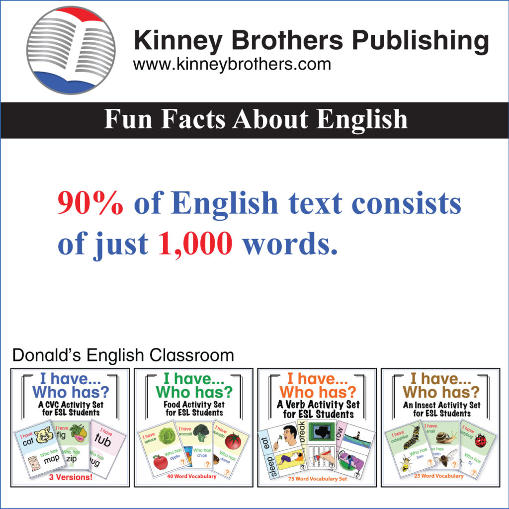 Fun Facts About English #7 - Kinney Brothers Publishing