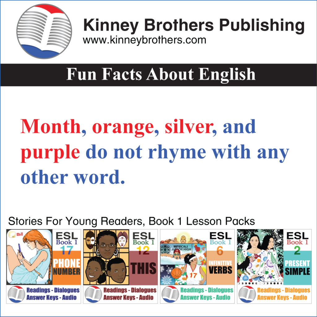 fun facts about English 11