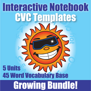 Interactive Notebooks CVC Templates 4 - Kinney Brothers Publishing