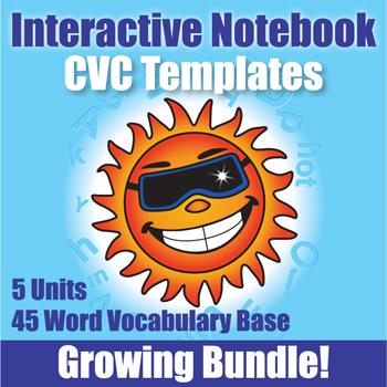 Interactive Notebooks CVC Templates 4 - Kinney Brothers Publishing