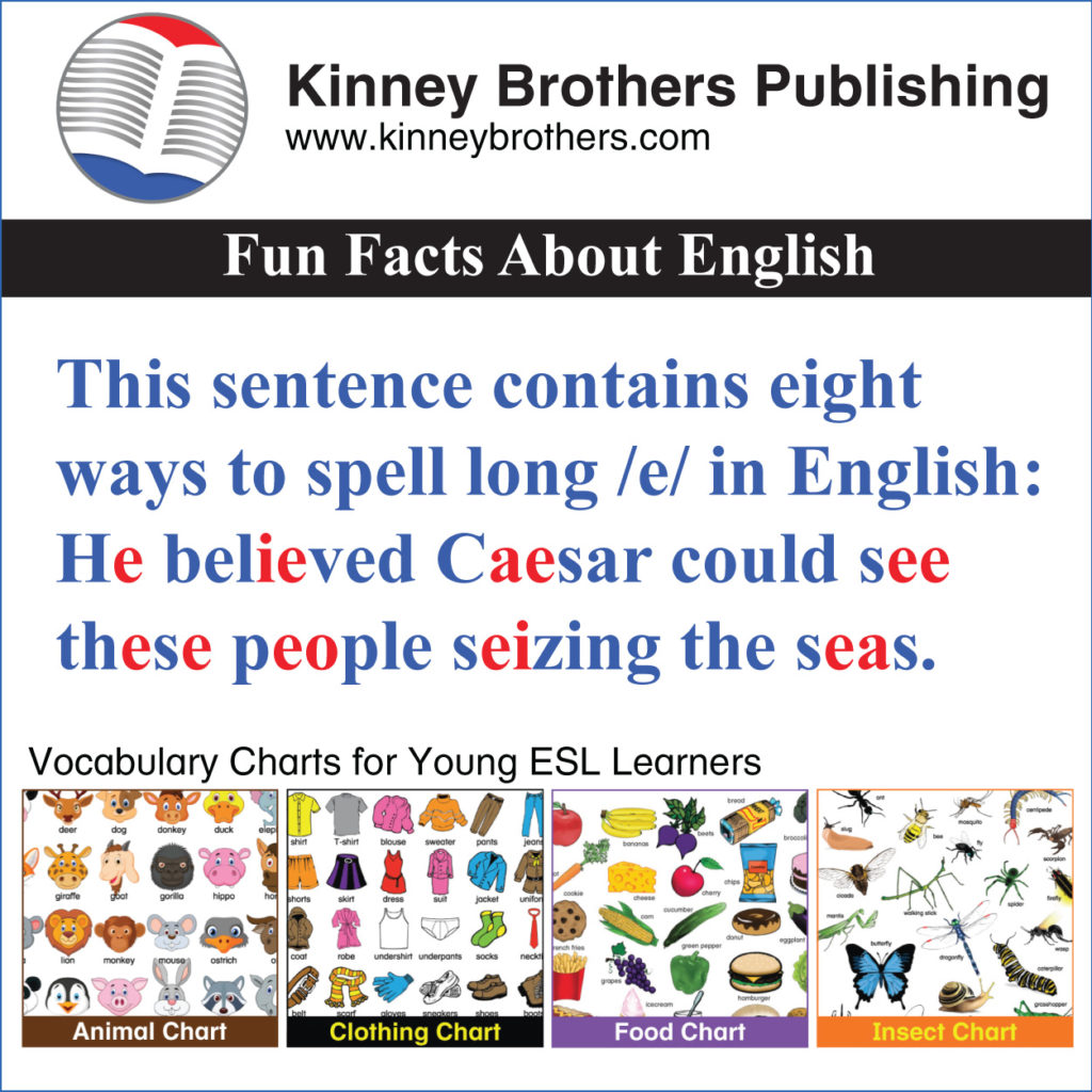 Fun Facts About English 13 Kinney Brothers Publishing