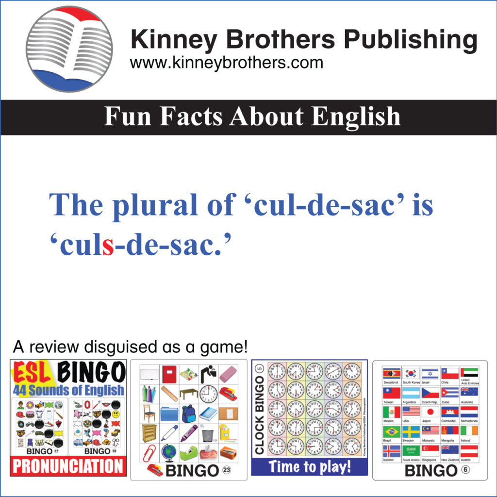Fun Facts About English 21 Kinney Brothers Publishing