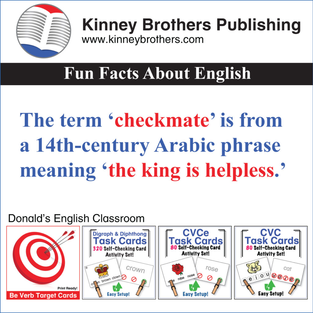 Fun Facts About English 22 Kinney Brothers Publishing