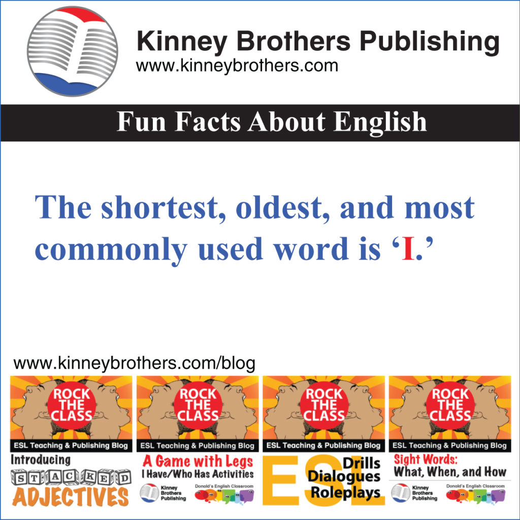Fun Facts About English 1 Kinney Brothers Publishing