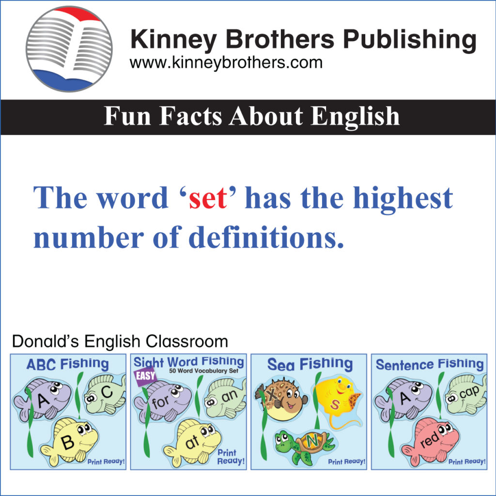 Fun Facts About English 6 Kinney Brothers Publishing
