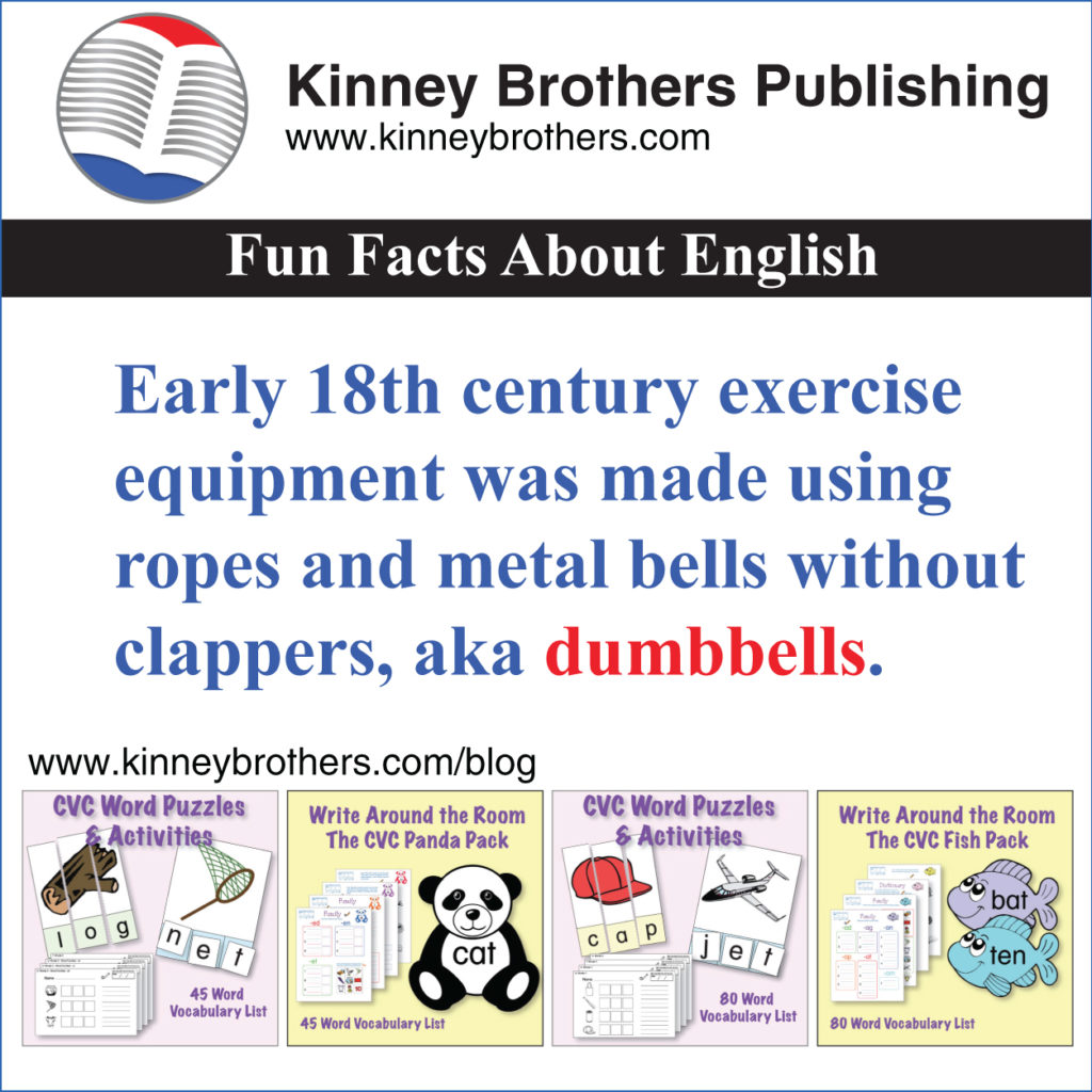 Fun Fact About English 58 Kinney Brothers Publishing