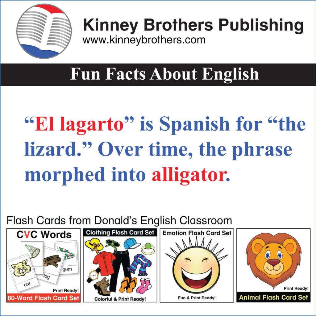 Fun Facts About English 59 Kinney Brothers Publishing