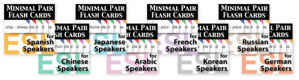 minimal pair card sets Kinney Brothers Publishing