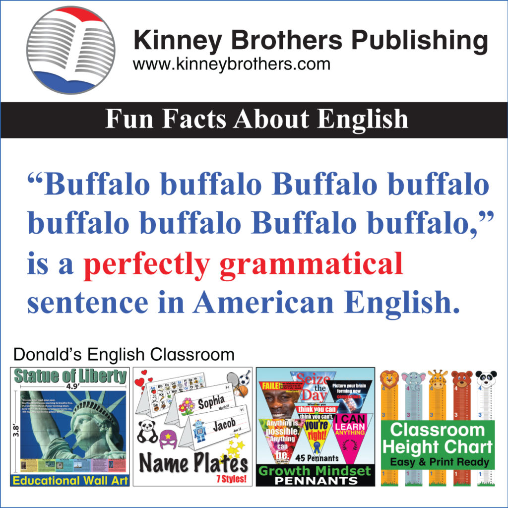 Kinney Brothers Publishing Fun Facts About English 63
