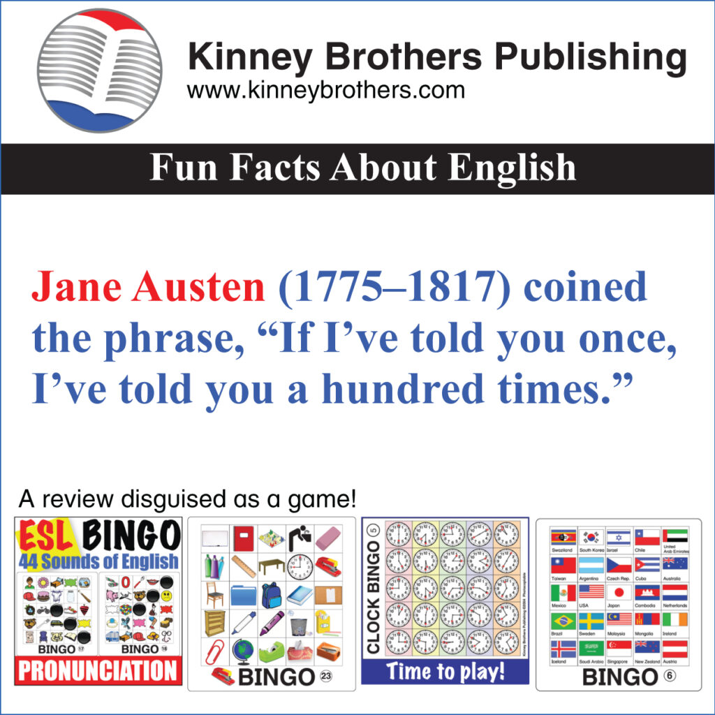 Fun Facts About English 68 Kinney Brothers Publishing