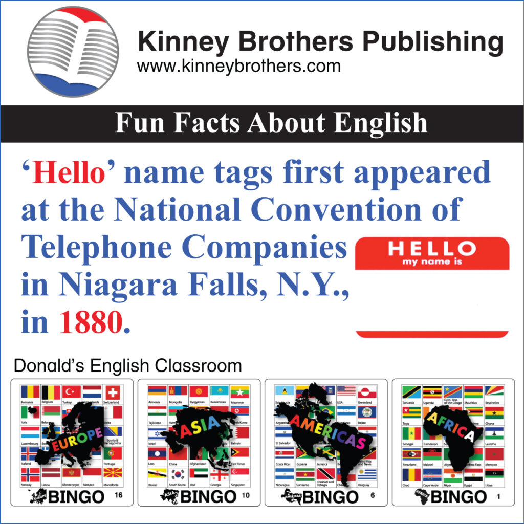 Fun Facts About English 50 Kinney Brothers Publishing
