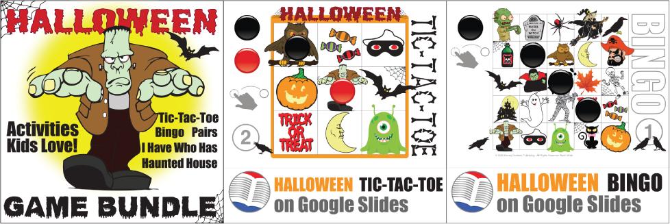 Halloween Games on Google Slides Donald's English Classroom